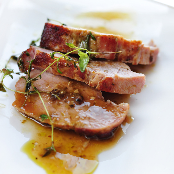 Pork Loin with Apricot Jus