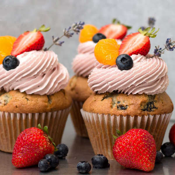 Sangria Cupcakes with Buttercream Frosting