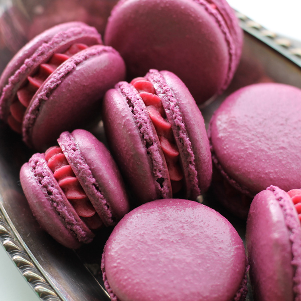Cassis (Black Currant) Macarons