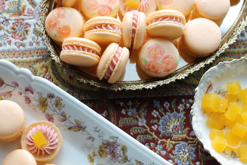 Peach Ginger Macaron